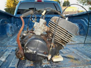 Suzuki TC125 engine, motor w/carb RV125 RV 125 TS125 TS, 1975