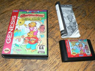 Berenstain Bears Camping Adventure Sega Genesis Game Complete CIB