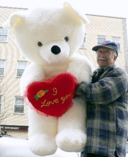 Giant Teddy Bear 54 Big Plush I Love You Heart New BF