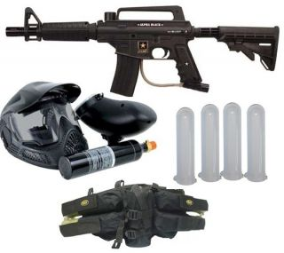 US Army Alpha Black Tactical Power Pack Plus Paintball Gun Kit