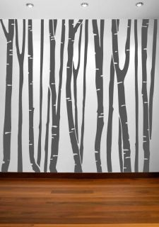Large Wall Birch Tree Decal Forest Kids Vinyl Sticker Removable 9