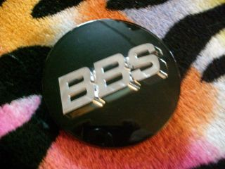 BLACK BBS WHEEL CENTER CAP HUB PART # 56.24.120 *Made in Japan