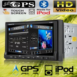 Motorized in Dash Car Stereo DVD Player Pip Bluetooth Camera