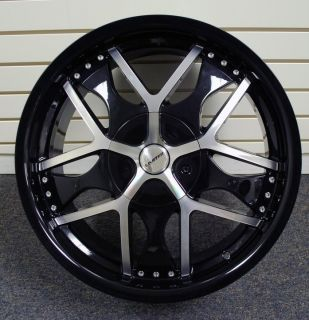 20 inch Wheels Black Machined Rims Limited 350