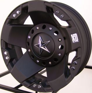 17 Matte Black XD Rockstar Wheels Rim Ford 05 2012 F350 Dually 8x200