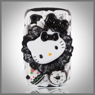 Bling Hello Kitty Cake Case Cover Blackberry 8520 Curve