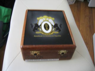 Wood Cigar Box Humidor Spanish Cedar Lined Black Onyx