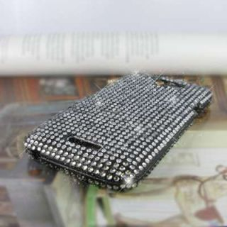 Accessory Black Hard Full Diamond Bling Case Cover for HTC One X