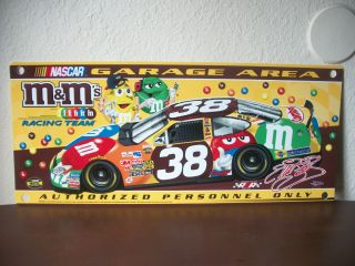 Ms Elliott Sadler and Robert Yates Nascar Garage Sign M Ms Made in