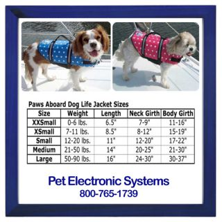 Paws Aboard Pink Blue Dot Dog Life Jacket Safety Vest