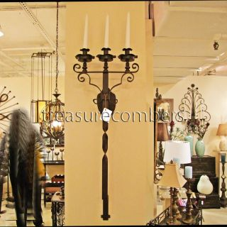 Gothic Wrought Iron Wall Candle Holder Sconce XL Large