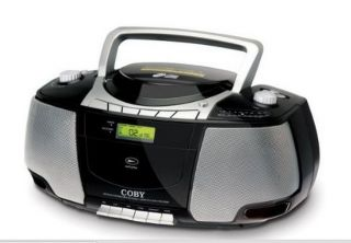 Portable Boombox  CD Radio Cassette Player Recorder