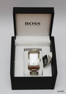 NIB HUGO BOSS Waterproof Steel Mens 1512213 Watch ~BOX