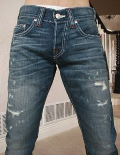 True Religion Mens Bobby Phantom Straight Leg Jeans in Missouri