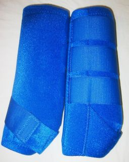 Blue Barrel Racing Sport Medicine Boots Neoprine Horse Leg Wraps
