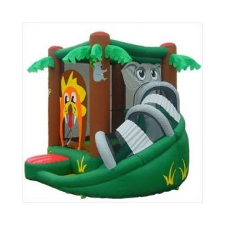Safari Bounce House w Slide Inflatable Bouncer Jumper