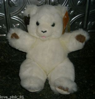Vintage Westcliff Collection White Teddy Bear Stuffed Animal Plush w