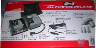 bonaire all purpose 12volt air compressor tire pump new