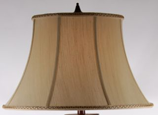 32 High Bradburn Lyons Square Hammered Metal Table Lamp