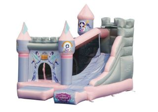 Inflatable Bounce House Princess Enchanted Castle w Slide Bouncer