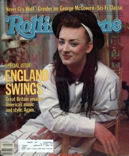 Rolling Stone 408 1983 Culture Clubs Boy George