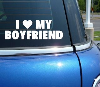 Heart Love My Boyfriend Funny Decal Sticker Vinyl Car Wall