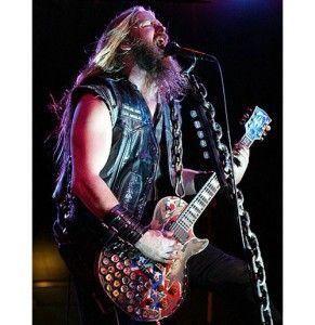 Miniature Guitar Zakk Wylde Les Paul Rebel Strap