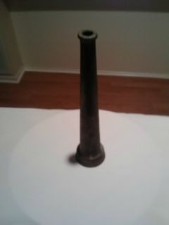 Antique Brass Fire Hose Nozzle Uncleaned
