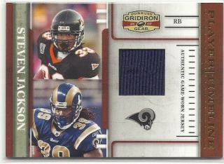 Lot 10 dif. 2007 Donruss Gridiron Gear NFL game used, rookie jersey