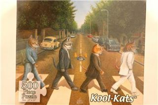 New 500 Piece Jigsaw Puzzle Kool Kats Tabby Road Beatles Abbey Road