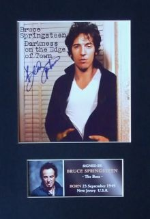 Bruce Springsteen Signed Album Cover Presentation