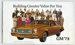 General Motors Product Brooklet 1973 Chevy Buick Olds Pontiac Cadillac