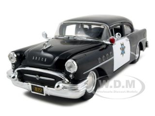 1955 BUICK CENTURY POLICE 124 DIECAST MODEL CAR BY MAISTO 31295