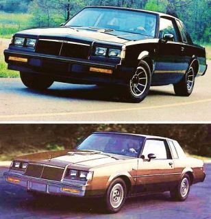1985 Buick Brochure Regal Grand National Regal T Type