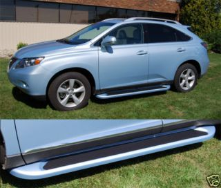 Lexus RX350 RX400H Running Boards 2155 Side Steps Matte Black Trim