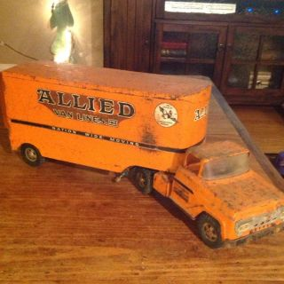 Old Metal Tonka Truck Semi and Trailer