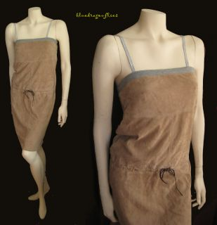 Fabulous BRUNELLO CUCINELLI Drawstring SUEDE DRESS