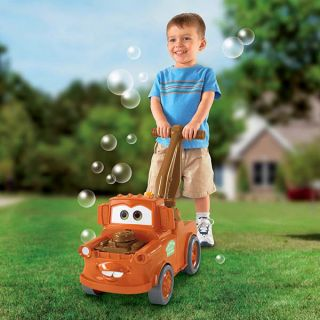 Fisher Price Cars Bubble Blowing Mater Movie Lawn Figure Disney Pixar