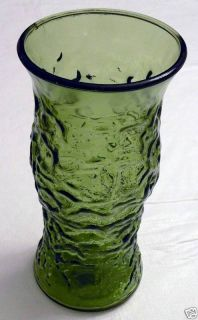 Green Depression Glass Cabbage Style Vase