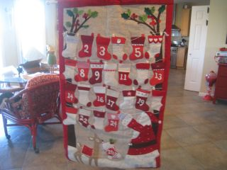 Pottery Barn Kids Stocking Advent Calendar Holiday Christmas New