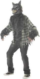 Mens Wolf Man Werewolf Full Moon Halloween Costume