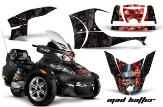 GRAPHICS DECAL WRAP KIT FOR BRP CANAM SPYDER RT CAN AM   MADHATTER