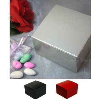 Wedding Favor Candy Cake Party Treat Gift Boxes 4x4x2 5 25 Bxs