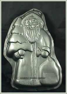 Wilton Old World Santa Claus w Tree Cake Pan Mold 1999 2105 1520 Nice