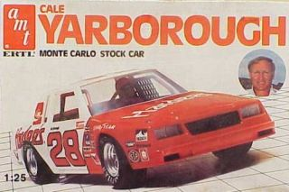 Cale Yarborough Hardees Monte Carlo Stock Car model kit Vintage