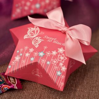 Pink Butterfly Wedding Favors Gift Candy Chocolate Buffet Box