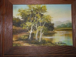 Original Cantrell Framed Oil Painting Autumn Landscape Listed Artist