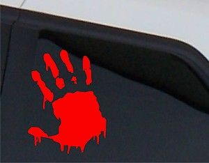 Print Zombie Outbreak Car Decal Sticker Halloween Decor JDM VW