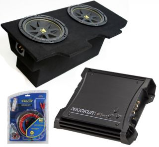 Kicker Chevy Camaro 93 02 Coupe Dual 12 Amplified Sub Box ZX400 1 Amp