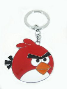 PS Cartoon characters Red Angry Bird Metal key Chain Cute key Ring